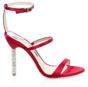 Sophia Webster Rosalind Satin Ankle-Strap Sandals