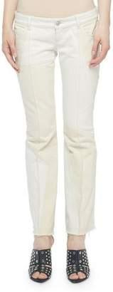 Alexander McQueen Patchwork Flare Kick-Back Jeans