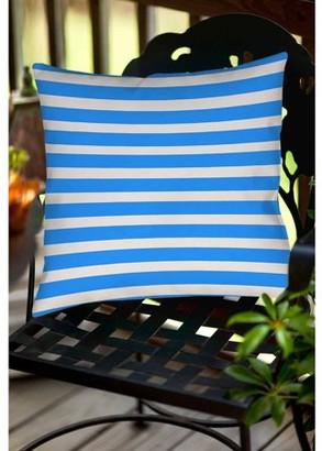 Thumbprintz Bright Stripes Robin Egg Indoor/Outdoor Pillow