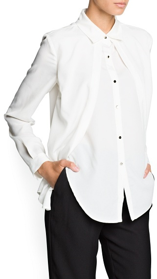 MANGO Double layer chiffon shirt