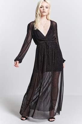 Forever 21 Contemporary Sheer Maxi Dress
