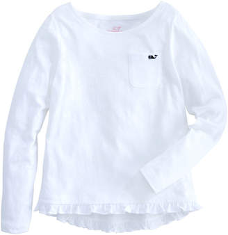 Vineyard Vines Girls Long-Sleeve Ruffle Knit Top