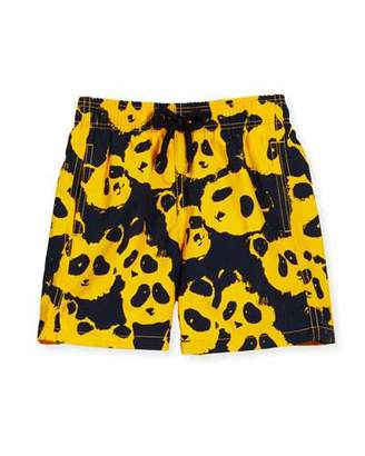 Vilebrequin Jim Panda Printed Swim Trunks, Turmeric, Boys' 2-8 $120 thestylecure.com