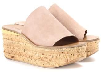 Chloé Camille suede platform sandals