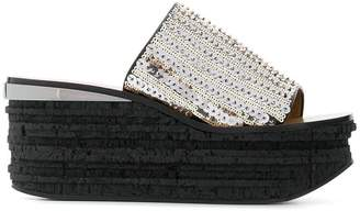 Chloé Camille sequinned mules