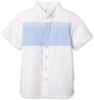 Giordano (ジョルダーノ) - (ジョルダーノ)GIORDANO 半袖ブロッキングオックスシャツ GD18SM-03048200 091 ホワイト 110