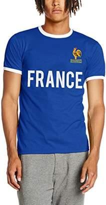Toffs Retro Football Men's France Short Sleeve Ringer T-Shirt