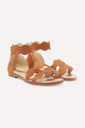 Chloé Kids - Sizes 29 - 35 Studded Suede Sandals