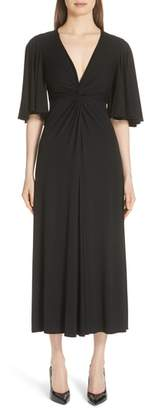 Michael Kors Twist Front Midi Dress