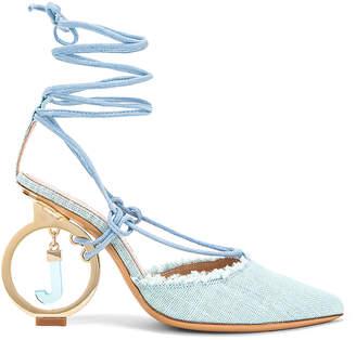 Jacquemus Chaussures Riviera Sandal in Light Blue | FWRD
