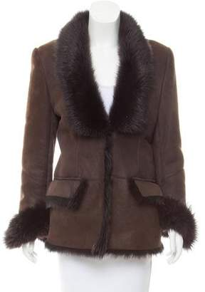 Gucci Structured Shearling Coat