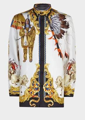 Versace Native American FW'92 Silk Shirt
