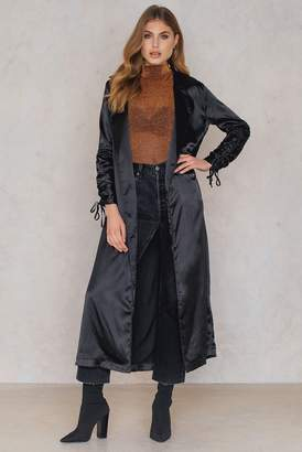 boohoo Ruched Sleeve Duster