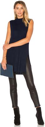 Autumn Cashmere Rib Mock Neck Sweater $264 thestylecure.com