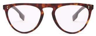 Burberry Caxton Tortoiseshell Acetate D Frame Glasses - Mens - Brown