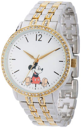 18182a13ea53 ... Disney Mickey Mouse Womens Two Tone Bracelet Watch-Wds000386