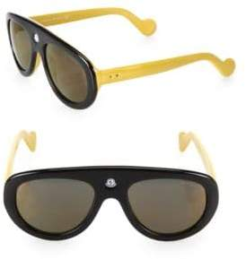 Moncler Blanche 55MM Two-Tone Shield Sunglasses