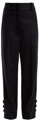 Joseph Young Wool And Cashmere Blend Trousers - Womens - Navy
