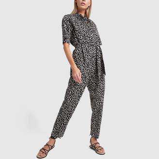 Rebecca Taylor La Vie Short-Sleeve Le Jaguar Jumpsuit
