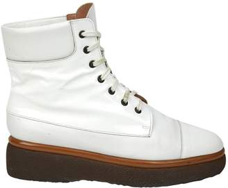 Clergerie White Leather Boots