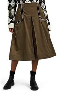 J.W.Anderson Women's Safari Pleated Midi-Skirt - Green