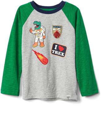 Gap Graphic patch slub baseball tee