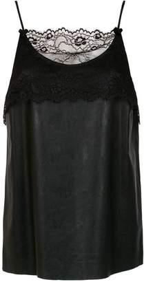 À La Garçonne lace detail blouse