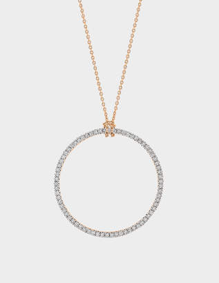 ginette_ny Baby Diamond Circle 18-karat rose gold necklace