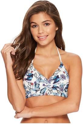 Ella Moss Folktale Floral Crop Bikini Top Women's Swimwear