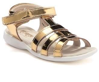 See Kai Run Fe Metallic Gold Leather Sandal (Toddler & Little Kid)