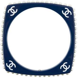 Chanel Navy Plastic Bracelet