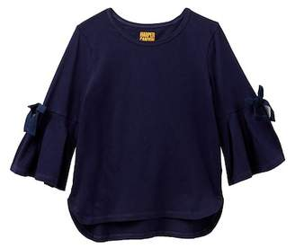 Harper Canyon Bell Sleeve Bow Tee (Big Girls)