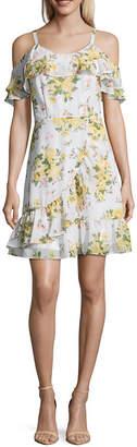 DISNEY PRINCESS Disney Princess Disney Princess Easter Short Sleeve Floral Maxi Dress-Juniors