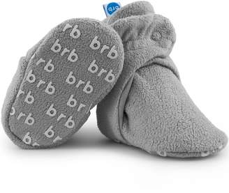 558c926b65cba0 Fleece Baby BirdRock Baby Booties - Organic Cotton   Non Skid Gripper  Bottoms - Cozy Boys