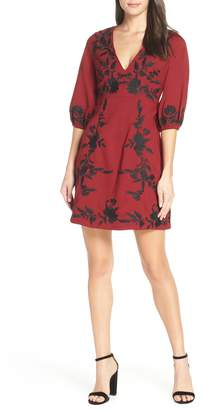 Foxiedox Melia Embroidered Cocktail Dress