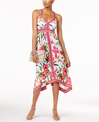 INC International Concepts Paisley-Print Handkerchief-Hem Dress, Only at Macy's $99.50 thestylecure.com