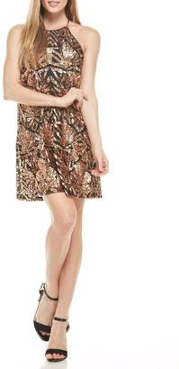 Everly Rose-Gold Sequins Dress $79 thestylecure.com