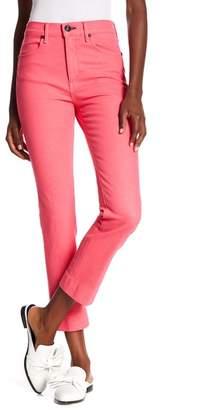 Rag & Bone High Waist Ankle Cigarette Leg Jeans (Bull Pink)