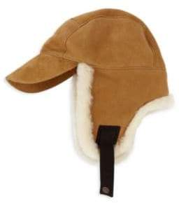 UGG Shearling-Trim Baseball Trapper Hat