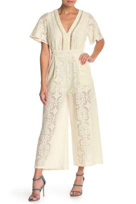 Flying Tomato Lace Tie V-Back Jumpsuit