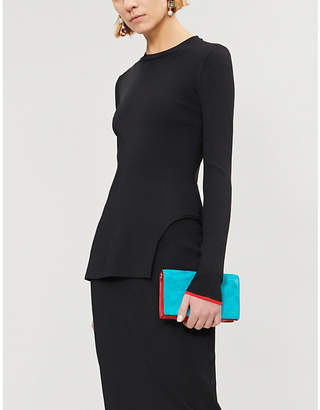 Victoria Beckham Cutout-hem knitted top