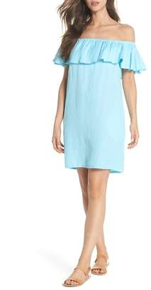 Tommy Bahama Off-the-Shoulder Cover-Up Dress