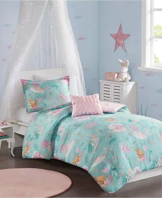 Jla Home Mi Zone Kids Darya Twin 3 Piece Printed Mermaid Comforter Set Bedding