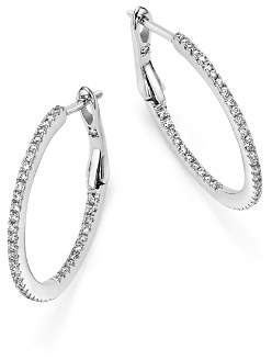 Bloomingdale's Diamond Micro Pavé Inside Out Hoop Earrings in 14K White Gold, .25 ct. t.w. - 100% Exclusive