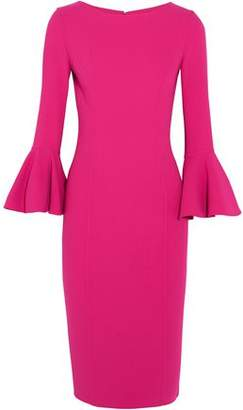 Michael Kors Fluted Stretch-wool Dress