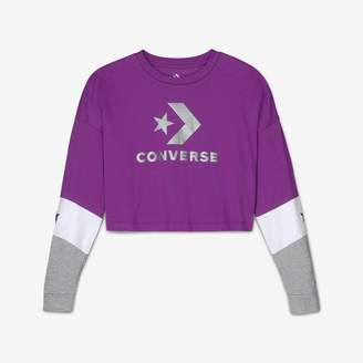 Converse Womens Cropped Long-Sleeve T-Shirt