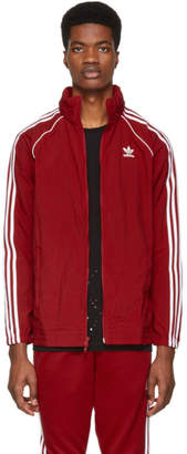 adidas Red SST Windbreaker Jacket