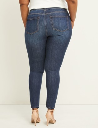 Lane Bryant Curvy Fit High Rise Skinny Jean - Iris Dark Wash