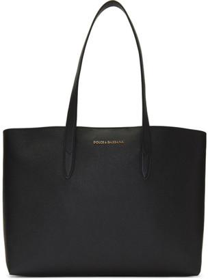 Dolce & Gabbana Black Dauphine Shopping Tote