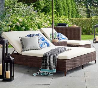 Pottery Barn Custom Double Chaise with Wheels Furniture Cover